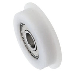 Engineered Plastic Bearings - One Side Flanged - Straight Bore
