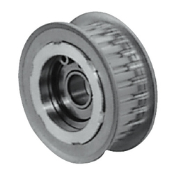 Flanged Idlers with Teeth - MXL, XL - Center Bearing