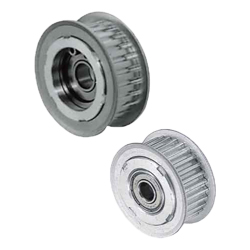 Flanged Idlers with Teeth - S2M, S3M - Center Bearing