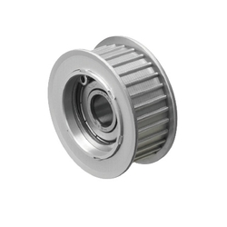 Flanged Idlers with Teeth - T5, T10 - Center Bearing