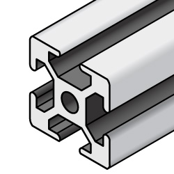 Aluminum Extrusion 6 Series/slot width 8/30x30mm, Parallel Surfacing