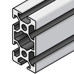 Aluminum Extrusion 6 Series/slot width 8/60x30mm, Parallel Surfacing
