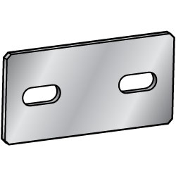 Sheet Metal Mounting Plates / Brackets - Dimension Configurable Type
