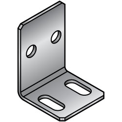 L Sheet Metal Mounting Plates, Brackets - Center Symmetrical Type