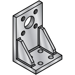 Welded Mounting Plate, Brackets - L Type