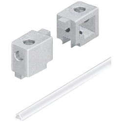 Corner Bracket for Door Extrusions, Support Spacers