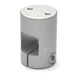 Square Pipe Joint Square, Threaded Type (2 Screws Perpendicular to Axle)