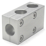 Round Pipe Joint Same Diameter Hole Type Two-Split Parallel 2 Axis T-Shape