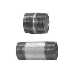 Steel-Pipe Screw-In Tube Fitting, Nipple