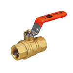 FF Type (Full-Bore) Ball Valve, Full Bore, Orange Lever Handle