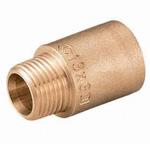 Metal Pipe Fitting Extractor Socket, for Pipe End Cores, Bronze