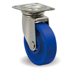 Stainless Steel Caster, Freely Swiveling, Includes JS Metal Fittings, MCB/JS