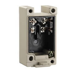Receptacle box for small heavy equipment limit switch D4A-N