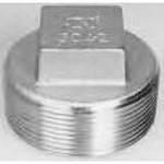 Stainless steel screw-in fitting square plug P