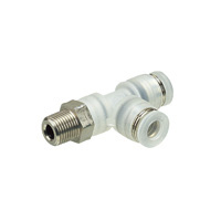 Tube Fitting PP Type Branch Tee Thread Part SUS304 for Clean Environments