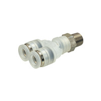 Tube Fitting PP Type Branch Y for Clean Environments  Screw Part SUS304