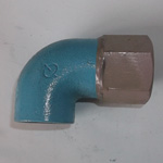 Pipe-End Anticorrosion Fitting, RCF-K, for Fixture Connection, Dissimilar Metal Contact Prevention, Female Adapter Elbow