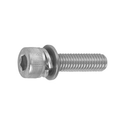 Hexagon Socket Bolt (Cap Screw) P = 4 (w/Integrated SW + JIS Small Washer)