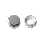 Mirror Lock Nut, Flat, Brass Low Cadmium Material (ECO-BS)