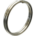 Double-Loop Split Rings, Stainless Steel