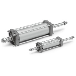 CA2W Series Air Cylinder, Standard Type: Double Acting, Double Rod (Standard / Heat Resistant)