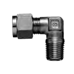 Copper Tubing Double Ferrule Fittings, Mail Elbow Connector (Taper Treaded Type)
