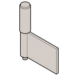 Stainless Steel 2-Tube Flag Hinge, B-1528-A