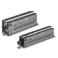 Thin air pneumatic cylinder 10S-6REC with fall prevention free position one-way lock