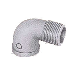 Pipe Fittings - Female/Male Elbow (Street Elbow) (with Band) - Plated
