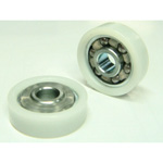 Bearings with Resin, ID (POM Tires, Metal Insert)