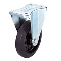 Press-Formed Nylon Wheel, Rubber Caster, Fixed