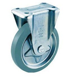 Press-Formed Gray Rubber Caster, Fixed