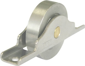 Stainless steel bearing door roller flat (C shaped frame)