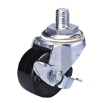 Heavy Class 300HB-Ps Bolt Type Special Synthetic Resin Wheel (Packing Caster) with Roller Bearing and Stopper for Heavy Loads