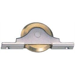 Stainless Steel Frame V model Door with Bearing Brass Wheel