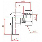 Flareless Fitting Direction Adjustment Elbow