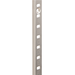 Stainless steel (SUS430) shelf column (with header)
