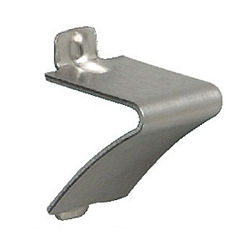 Parts for stainless steel shelf post (pack with header) V shaped shelf bracket