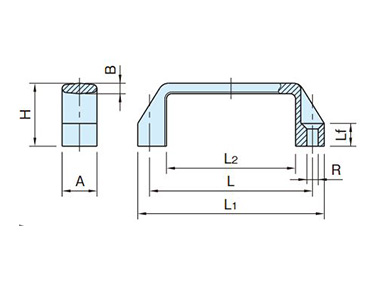 AGS-N (Front Mounting Specification) dimensional drawing